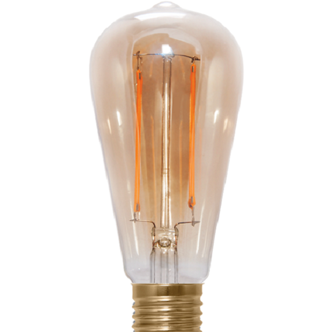 Led Rustika Filament longue gold